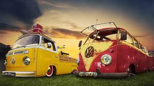 old volkswagen yellow vintage volkswagen bus at sunset hd wallpaper hd latest wallpapers