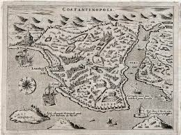 Map Of Constantinople Constantinople Istanbul Michael Jennings Antique Maps And Prints