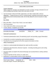 Secretary Resume Duties Executive Secretary Resume Haadyaooverbayresort Com