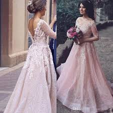 colored wedding dresses discount arabic 2017 blush pink colored wedding dress a line v