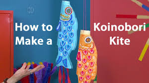 Japanese Fish Flag How To Make A Koinobori Japanese Kite Oil Pastel Tutorial Youtube