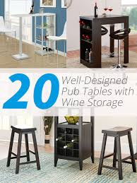 pub table and chairs with storage 20 well designed pub tables with wine storage home design lover