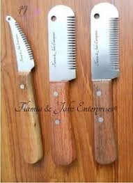 carding comb stripping knives for terriers carding knives pet combs dog cat fox