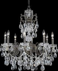Crystorama Chandeliers Sale Crystorama 5198 Eb Cl Mwp Crystal Eight Light Chandelier From