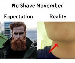 Shaving Meme - no shave november expectation reality meme on me me