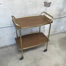 mid century bar cart on casters u2013 urbanamericana