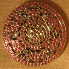 file hair ornament tamil nadu india 19th century gold rubies