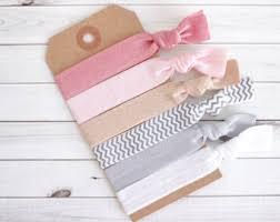 stretchy ribbon ribbon hair ties etsy
