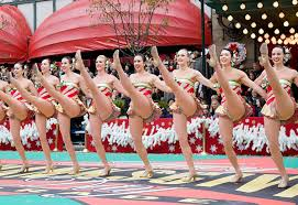 rockettes at the macy s thanksgiving day parade new york