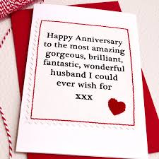 husband boyfriend handmade anniversary card by arnott