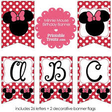 minnie mouse birthday banner business template