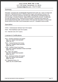 Examples Of Registered Nurse Resumes by Examples Of Rn Resumes