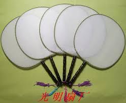 diy fans personalized silk fans white fabric vintage fan