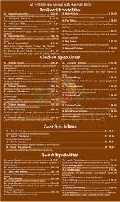 flavor of india menu fine tandoori food florida