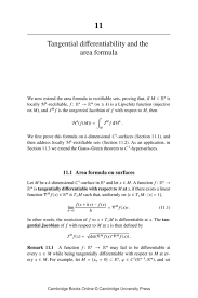 Area Formula by 11 Tangential Differentiability And The Area Formula