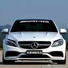 mercedes decal 2017 amg front rear windshield decal vinyl car stickers for