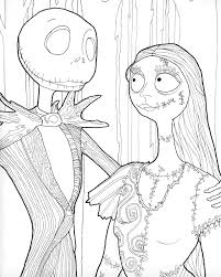 Halloween Themed Coloring Pages by Digital Download Jack And Sally Halloween Coloring Page