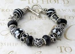 black pandora charm bracelet images And white pandora bracelet jpg