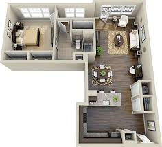 l shaped apartment floor plans 20 one bedroom apartment plans for singles and couples apartment