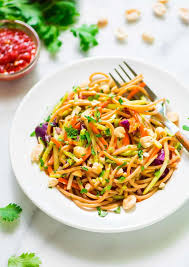 cold pasta salad dressing asian noodle salad with creamy peanut dressing well plated by erin