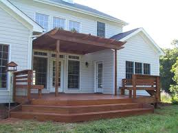 Deck With Pergola by Interesting Decks With Pergolas Thediapercake Home Trend