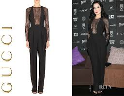 gucci jumpsuit dita teese s gucci jumpsuit carpet fashion awards