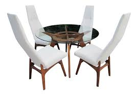 century dining room furniture adrian pearsall craft associates mid century dining set chairish