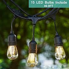 heavy duty outdoor string lights outdoor string light kit tomshine 49 9ft led waterproof heavy duty