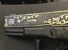 gold inlay engraving engraved and gold inlaid factory glocks the firearm blogthe