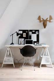 Diy Trestle Desk A Combo Ikea Desk And Eames Chair The Brown Wooden Moose