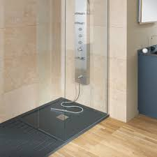 fiora silex designer mixed low profile grey shower tray 800mm w