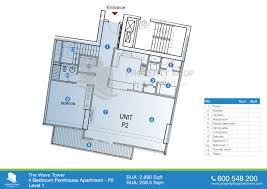 4 Bedroom Apartments by Floor Plans Of The Wave Najmat Al Reem Island