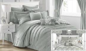 24 Piece Comforter Set Queen Chic Home Bed In A Bag 24 Pc Groupon Goods