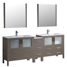 84 Bathroom Vanity Fresca Torino 84 Inch Grey Oak Modern Double Sink Bathroom Vanity