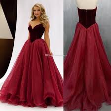 burgundy v neck ball gown prom dresses 2017 organza ruffles