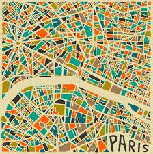 map pattern bold geometric patterns form abstract city maps