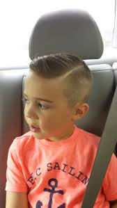 boys haircut with sides hardpart shavedsidepart littleboyhaircut hair pinterest