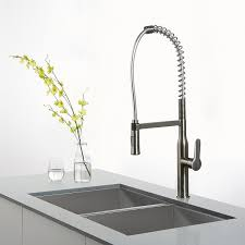 kraus kpf 1650ss modern nola single lever commercial style kitchen kraus kpf 1650ss modern nola single lever commercial style kitchen faucet stainless steel amazon com