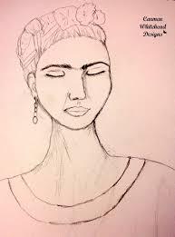 face sketches in progress carmen whitehead designs