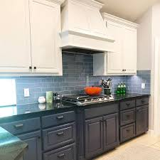 images of kitchen cabinets painted blue should i paint my cabinets two different colors paper
