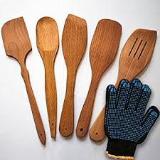 Organic Kitchen Utensils - amazon com lipper international 826 set of 6 bamboo kitchen tools