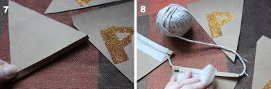 How To Sew A Flag Diy Glitter Banner For Christmas