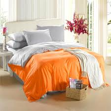 Duvet Covers King Contemporary Orange Silver Grey Bedding Set King Size Queen Quilt Doona Duvet