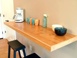 table attached to wall table attached to wall full size of home mounted breakfast bar table