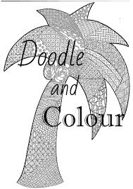tree colouring page instant download printable coloring