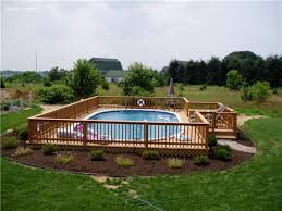 pictures of above ground pools with decks above ground pool deck