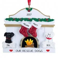 couple two stockings 2 pets ornament personalized ornaments