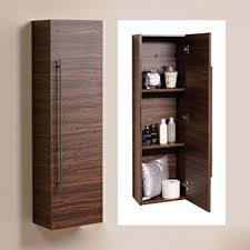 Bathroom Tall Cabinet 120cm wall mounted bathroom tall cabinet wood shelving hung