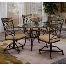 hillsdale pompei 5 piece dining set with glass top black gold