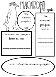 macaroni penguin craft and printable